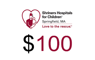 Shriners Hospitals for Children Springfield Donation $100.00